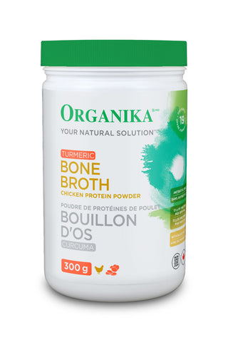 Organika Chicken Bone Broth Protein 300g tumeric