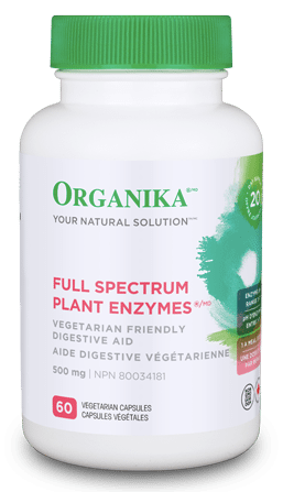 Organika Full Spectrum Plant Enzymes (FSPE) 500mg Vegetarian Capsules | Digestion, Stomach | Organika