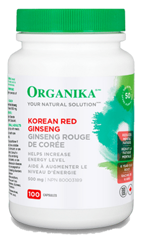 Organika Korean Red Ginseng 500mg 100 Capsules