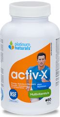 Platinum Naturals Activ-X Men Softgels | Men's Multivitamins | Platinum