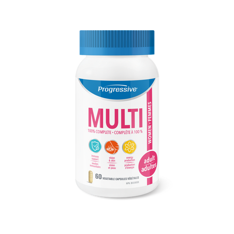 Progressive Adult Women Multi Vitamin 60 Vegetable Capsules