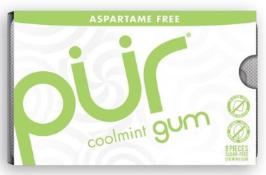 Pur Aspartame Free Gum - Single Packs (9 Pieces)