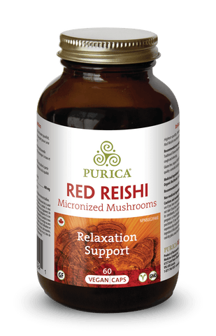 Purica Red Reishi Mushroom Vegan Capsules | Herbs | Purica