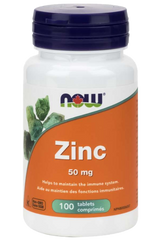 NOW Zinc 50mg | Immune Support | NOW Foods