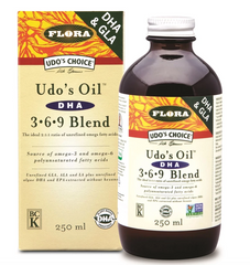 Udo's Choice DHA 3-6-9 Oil Blend Liquid | Heart & Circulatory Health | Flora