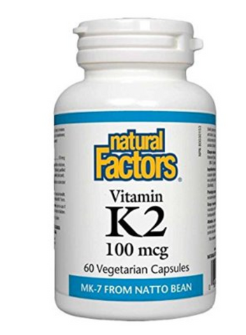 Natural Factors Vitamin K2 100mcg | Bone & Osteoporosis | Natural Factors