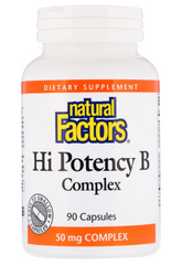 Natural Factors Hi-Potency B-Complex 50mg Capsules | Vitamin B | Natural Factors