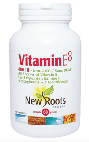 New Roots Vitamin E8 60 Softgels