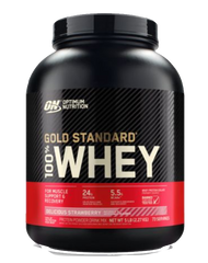 Optimum Nutrition Gold Standard 100% Whey Protein Powder 5lbs Delicious Strawberry