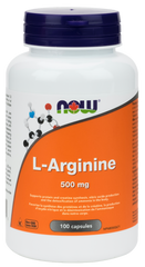 NOW L-Arginine 500mg Capsules | Amino Acids & BCAA's | NOW Foods
