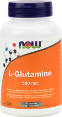 NOW L-Glutamine Free Form 500mg 120 Cap | Glutamine | NOW Foods