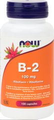 NOW B2 100mg Riboflavin - Body Energy Club