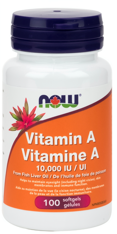 NOW Vitamin A 10,000IU - Body Energy Club