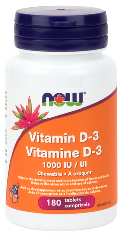 NOW Vitamin D3 1000IU Chewable Tablets | Vitamin D | NOW Foods