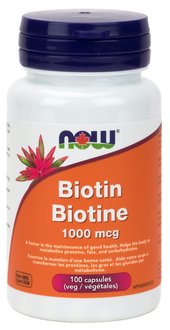 NOW Biotin 1000 mcg 100 cap | Vitamin B | NOW Foods