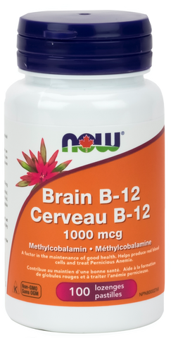 NOW Brain B12 with 1000mcg Methylcobalamin | Vitamin B | NOW Foods