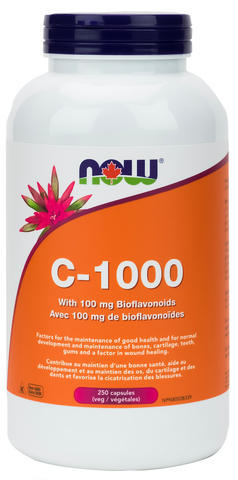 NOW C-1000 (with 100mg Bioflavonoids) - Body Energy Club