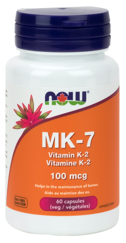 NOW Mk-7 Vitamin K-2 100mcg - Body Energy Club
