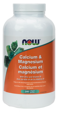 NOW Calcium & Magnesium with Vitamin D and Zinc Softgels | Bone & Osteoporosis | NOW Foods