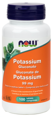 NOW Potassium Gluconate 99mg - Body Energy Club