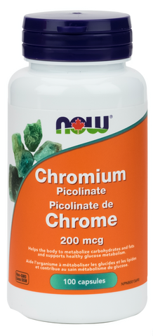 NOW Chromium Picolinate 200mcg 100 Capsules