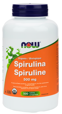 NOW Spirulina 500mg 500 tablets