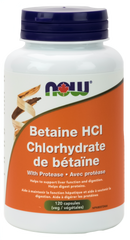 NOW Betaine HCL with Protease | Digestion, Stomach | NOW Foods