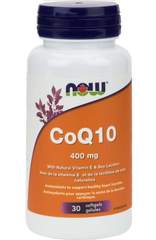 NOW CoQ10 400mg with Vitamin E 30 Softgels