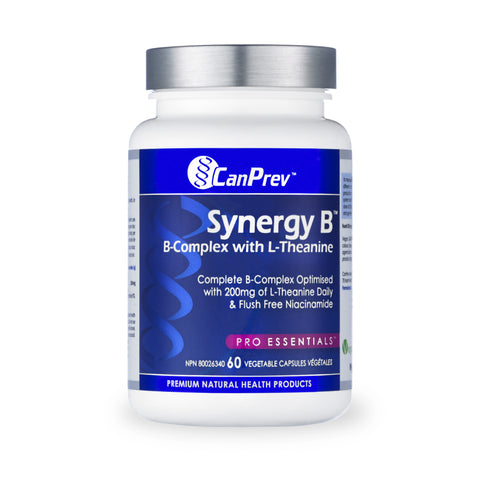 CanPrev Synergy B Complex With L-Theanine 60 VCAP | Vitamin B | CanPrev