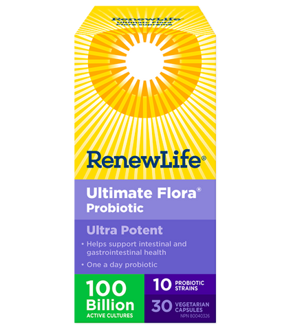 Renew Life Ultimate Flora Ultra Potent 100 Billion - Body Energy Club
