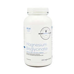 Body Energy Club Magnesium Bisglycinate 200mg 240 Veggie Capsules