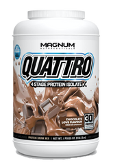 Magnum Quattro Protein Supplement 2lbs | Whey Protein | Magnum | Chocolate
