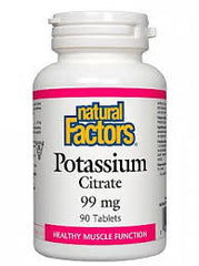 Natural Factors Potassium Citrate 99mg Tablets | Bone & Osteoporosis | Natural Factors