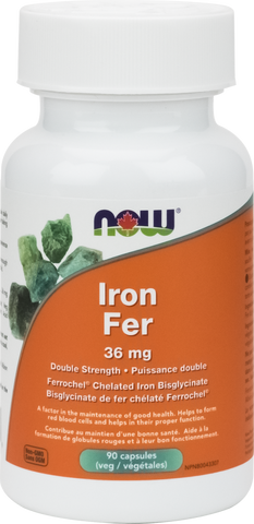 NOW Iron Bisglycinate 36mg - Body Energy Club