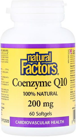Natural Factors Coenzyme Q10 200mg Softgels - Body Energy Club