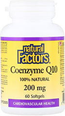 Natural Factors Coenzyme Q10 200mg Softgels | Greens & Detox | Natural Factors