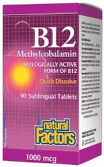 Natural Factors B12 Methylcobalamin 1000mcg | Vitamin B | Natural Factors