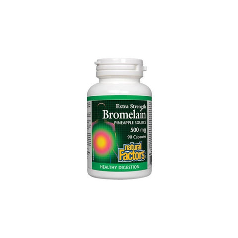 Natural Factors Bromelain 500mg Capsules | Digestion, Stomach | Natural Factors