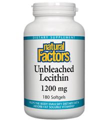 Natural Factors Unbleached Lecithin 1200mg | Liver Health | Natural Factors