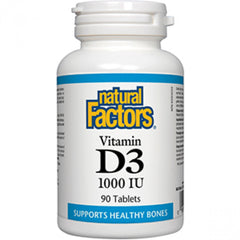 Natural Factors Vitamin D3 1000 IU 90 Tablets