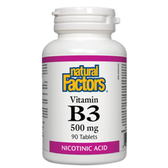 Natural Factors B3 500mg 90 tablets
