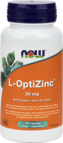 NOW L-OptiZinc Monomethionine 30mg - Body Energy Club