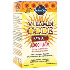 Garden Of Life Vitamin Code RAW D3 1000IU - Body Energy Club