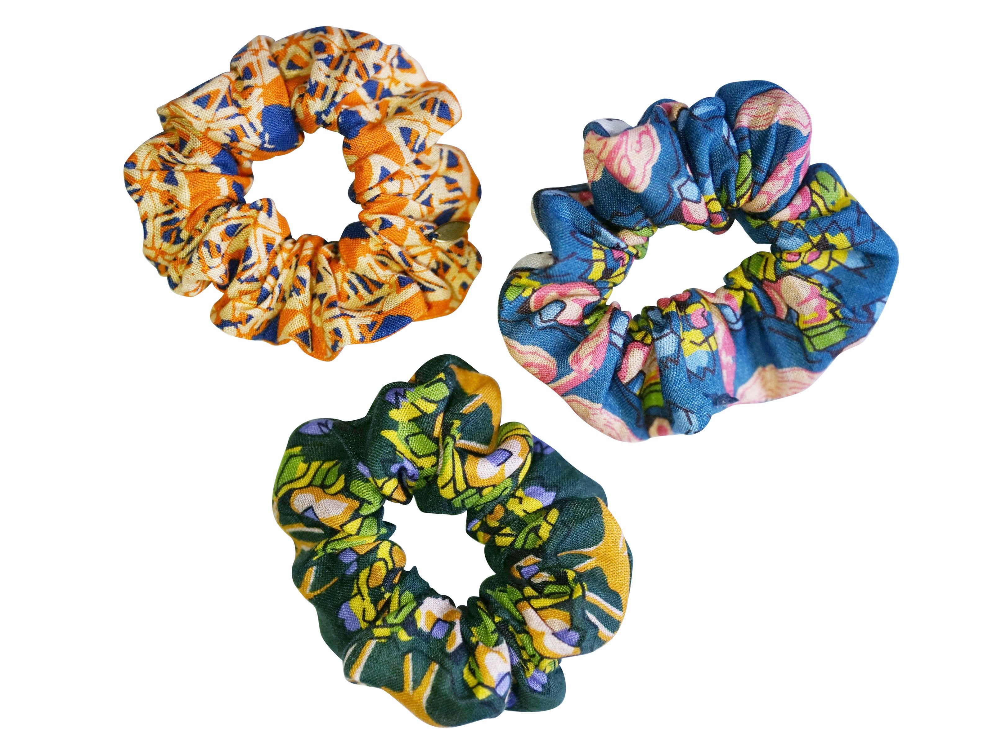 Kenya Scrunchies Set of 3