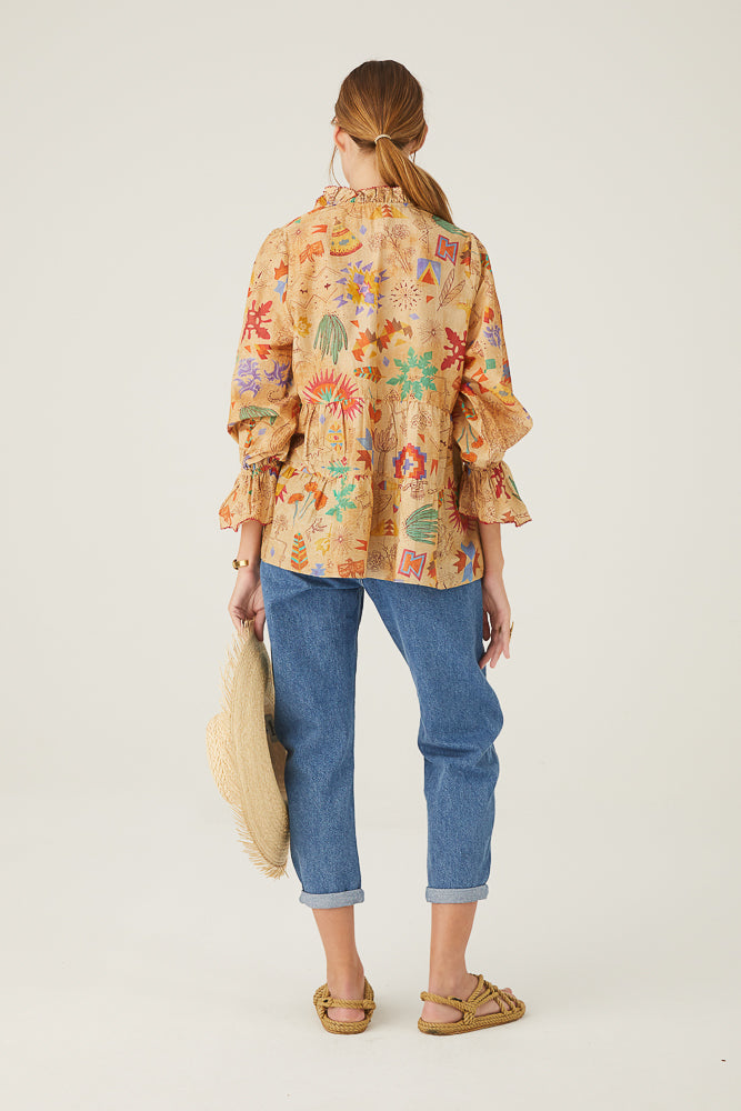 Cotton Silk Saqui Blouse