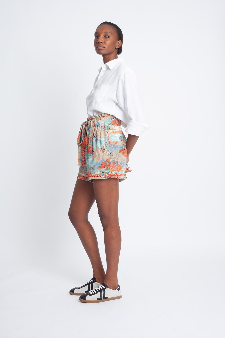 Embroidered Amaru Shorts