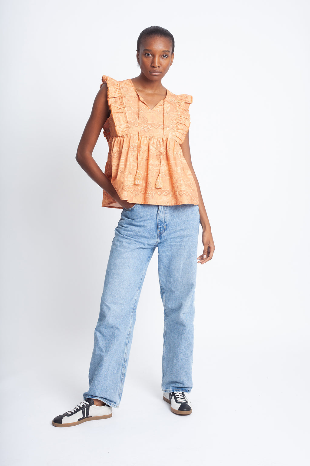 Re Miski Ruffled Top