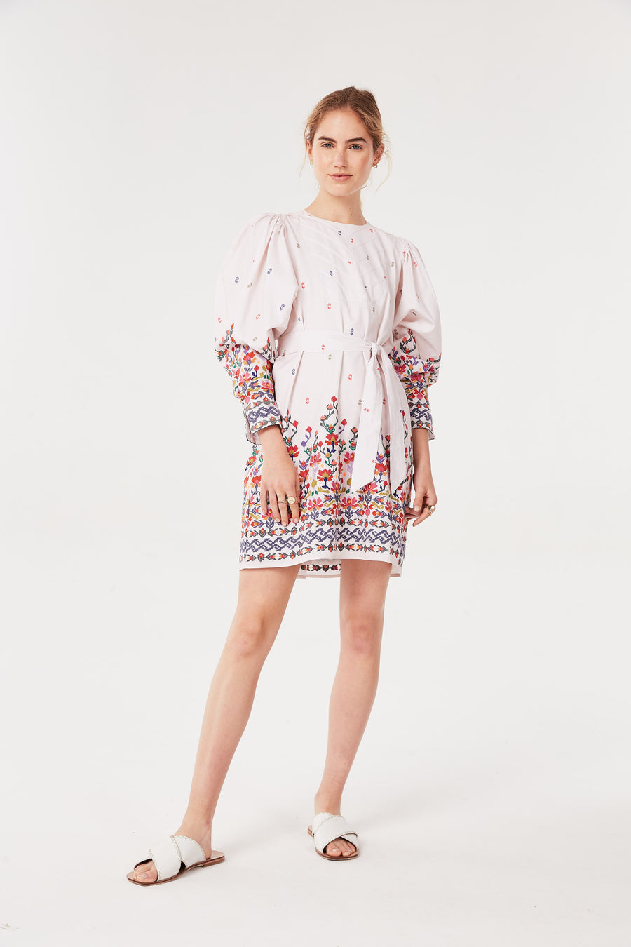 Embroidered Kenko Long Sleeve Dress
