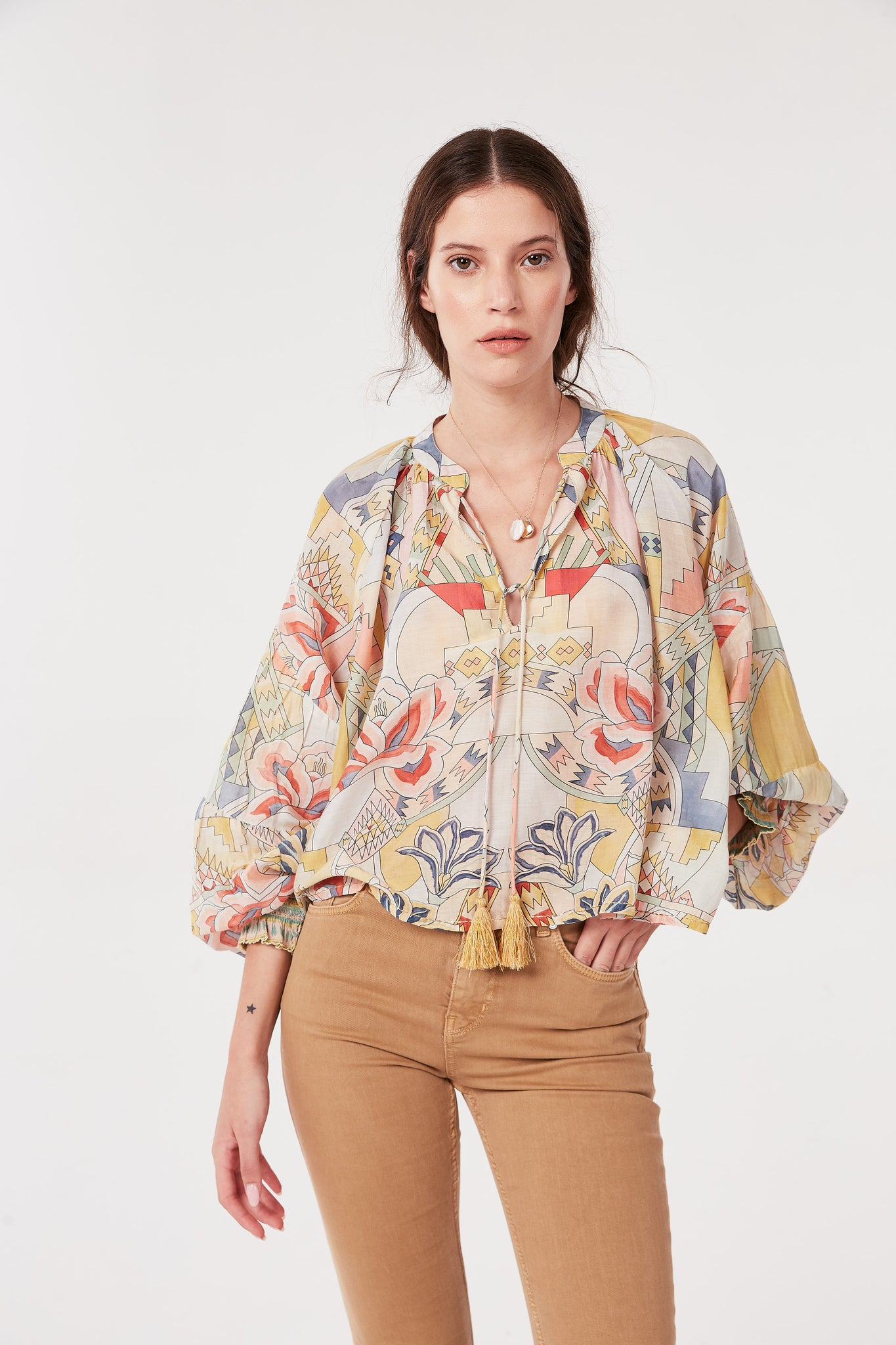 Cotton Silk Kuka Blouse