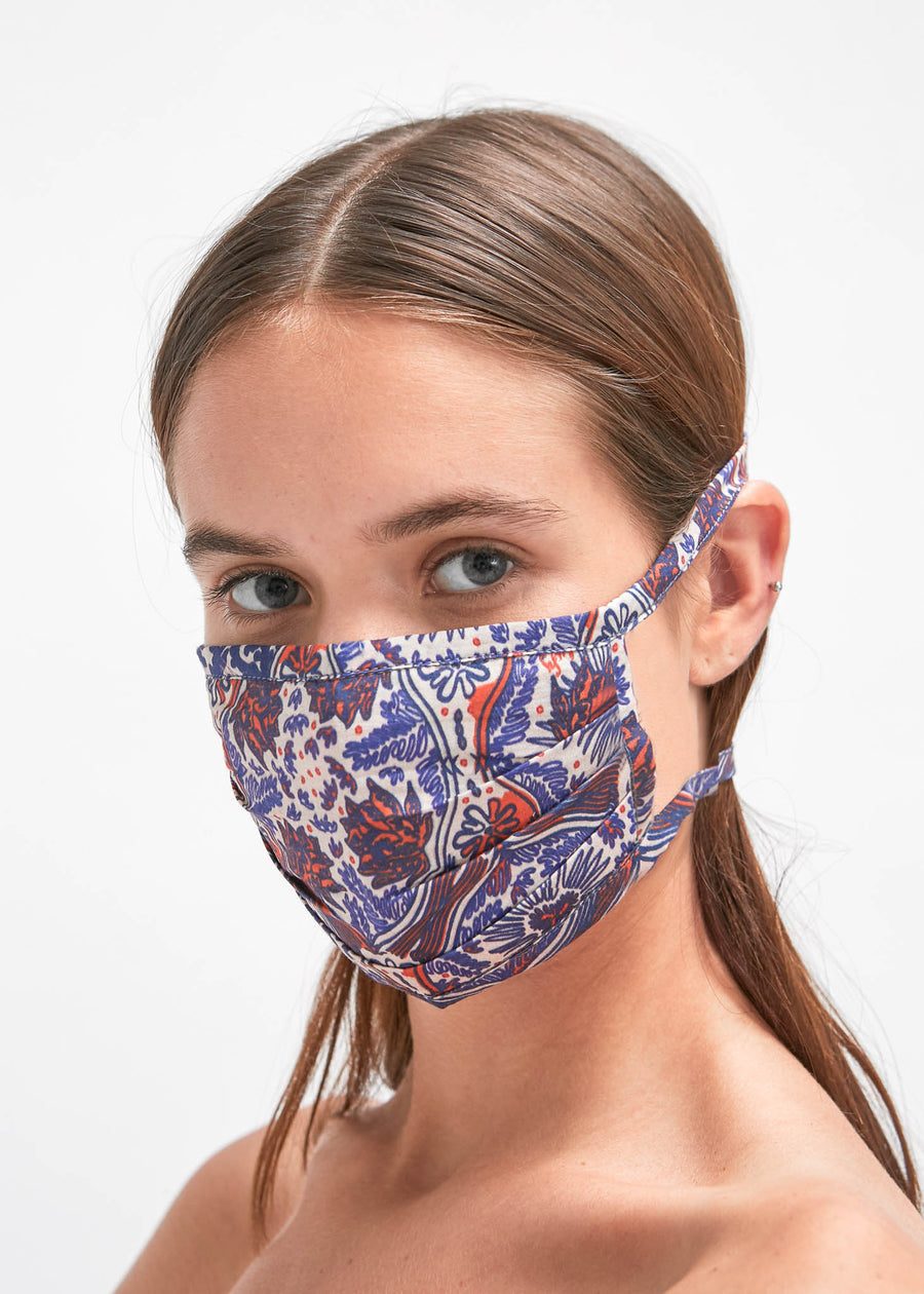Lin Pleated Face Mask